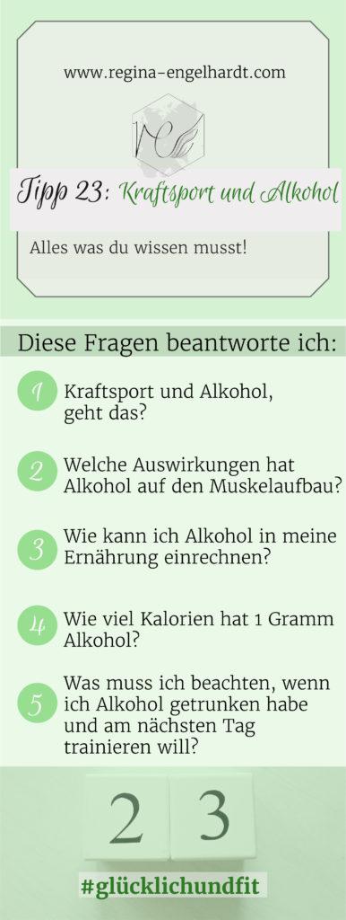 Kraftsport und Alkohol