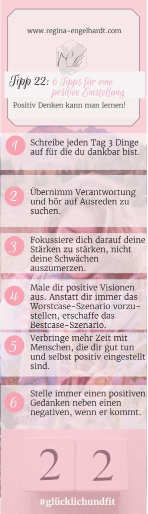 6 Tipps für eine positive Einstellung
