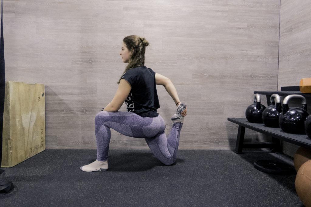Stretching Routine, Dehnung des vorderen Oberschenkels
