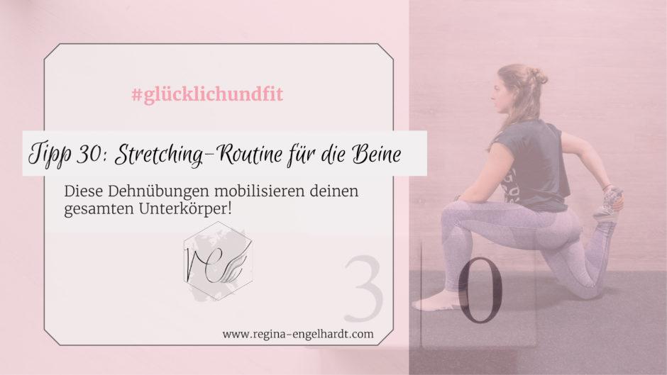 Stretching-Routine für die Beine, den Unterkörper, den Po, den Gluteus, den Rücken