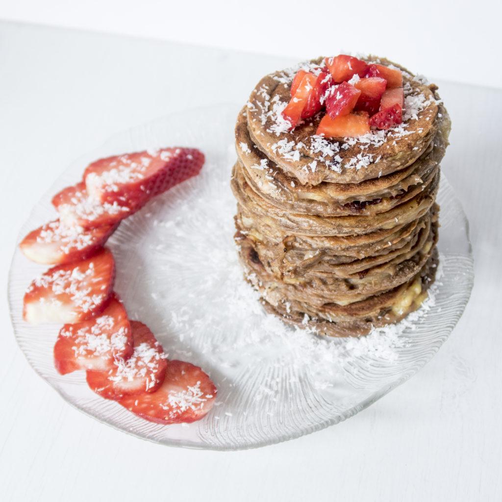 Vegane Protein Pancakes; Vegane Protein Pfannkuchen